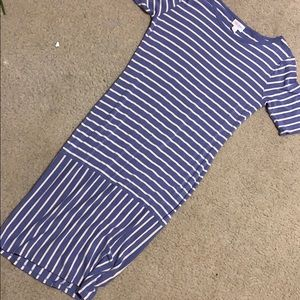 LuLaRoe Blue Stripes Julia